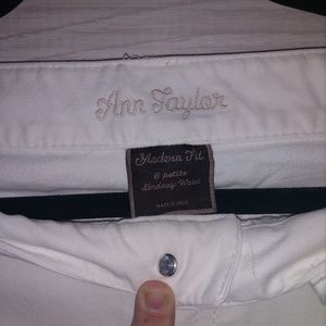 Ann Taylor white denim